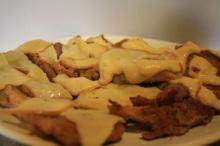 setas empanadas con queso