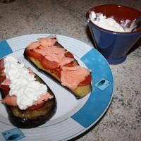 Canal cocina:  Berenjenas con queso cottage y salmón