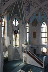 Interior mezquita del Kremlin en Kazan, Kol-Sarif