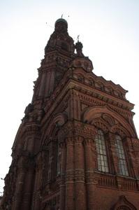 Torre del campanario Teófano en el centro de Kazan