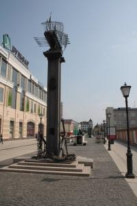 Estatua representando las antiguas galeras que navegaban por el Volga