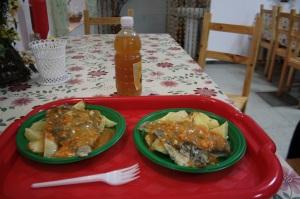 Comiendo en Ganina Yama
