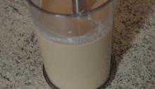 Crema de orujo ya mezclada