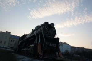 Antiguo tren sovietico