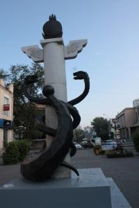 Estatua en la calle Lenin