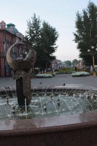 Fuente en la calle Lenin