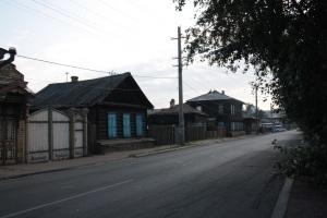 Casas de madera típicas en Siberia