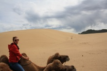 Zona semidesertica en el centro de Mongolia