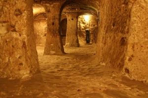 Uno de los cientos de túneles de esta ciudad subterránea