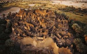 Antigua ciudad fortaleza en la ruta de los esclavos hacia Libia.