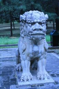 Estatua en el paseo sagrado