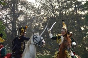 Combate entre la caballería