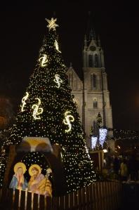 Namesti Miru, mercado de navidad, Praga