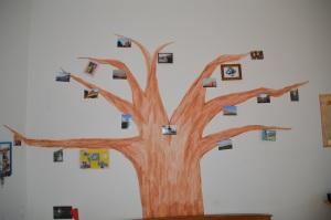 arbol con fotos
