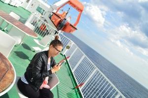 Viento en el ferry