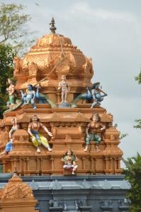 Templo hinduista en la parte nuevaa