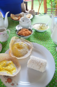 Desayuno típico de Sri Lanka