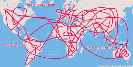 Guía de viaje para ver el mundo. Recorrido sujeto a cambios