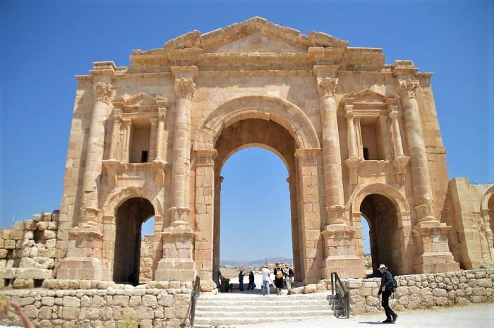 Arco del triunfo en Jerash - Arch of triumph in Jerash