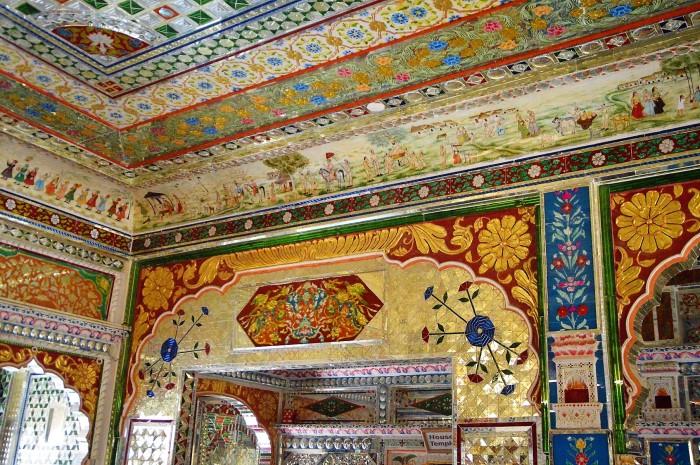 Decoración de un haveli - Decoration of a haveli